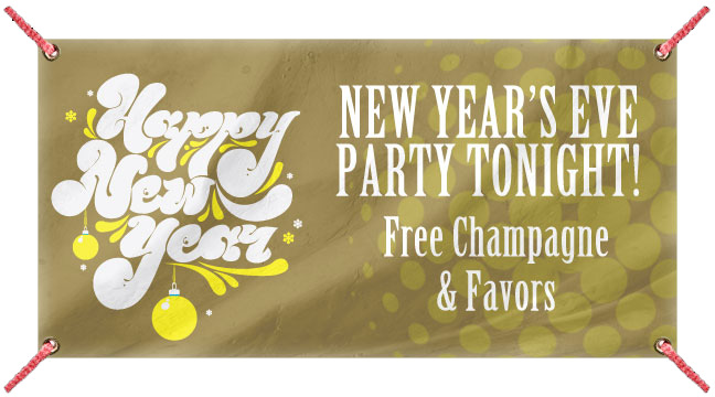 Gold Retro New Year - Custom Banner