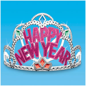 New Years Princess Tiara- 4 Inch