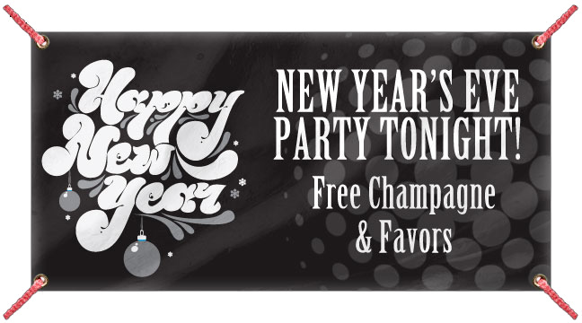 Black Retro New Year - Custom Banner