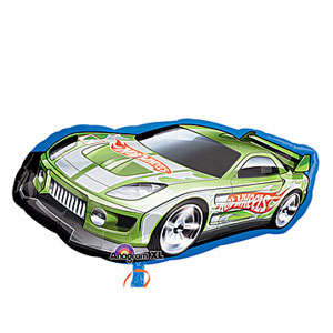Hot Wheels Green Racer Shape Balloon- 36in