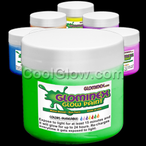 Glominex™ Glow Paint Assorted Pints - 6