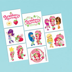 Strawberry Shortcake Tattoo Favors- 16ct