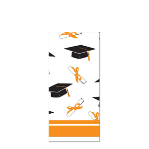 Grad Plastic Tablecover - Orange
