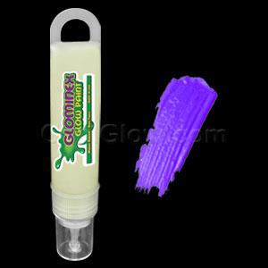 Glominex Glow Paint 1 oz Tube - Invisible Day Purple