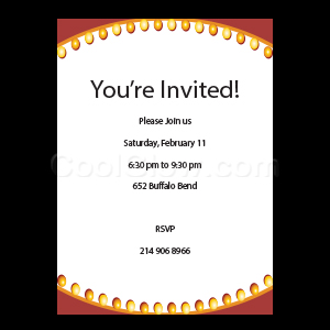 Marquee Sign - Custom Invitations