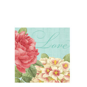 Blissful Blooms Beverage Napkins- 36ct