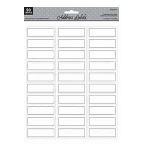 Silver Printable Address Labels - 90ct