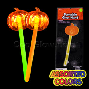 Fun Central X551 Glow in the Dark Pumpkin Wand - Assorted