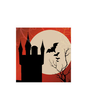 Frightful Night Beverage Napkins- 16ct