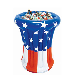 Inflatable Patriotic Cooler