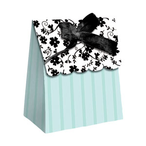 Black Satin Favor Bags