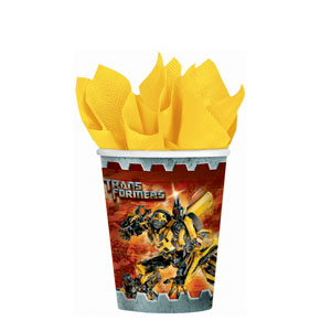 Transformers 3 9 oz. Cups- 8ct