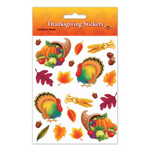 Thanksgiving Stickers - 4ct