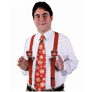 Holiday Shot Glass Suspenders