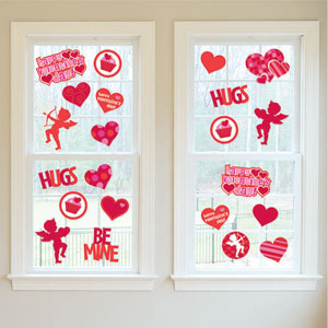 Valentine Vinyl Window Decorations
