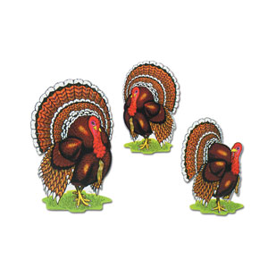 Turkey Cutouts - 5ct