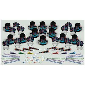Rock n' Roll New Years Party Kit for 25- 63pc