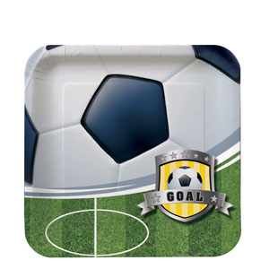 Soccer 7 Inch Square Plates