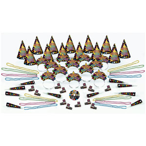 Dance Party New Years Party Kit with CD for 25- 63pc