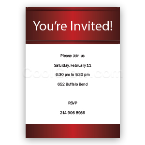 Classic Red - Custom Invitations