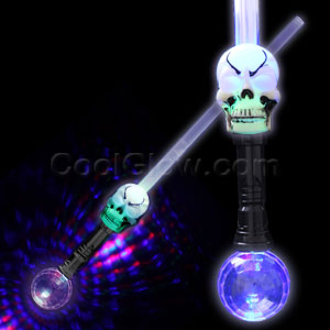 LED Skull Crystal Ball Sword