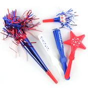 Assorted Patriotic Noisemakers Value Pack- 40pc