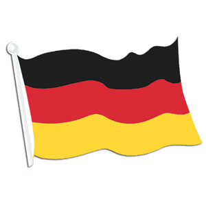 German Flag Cutout- 18in