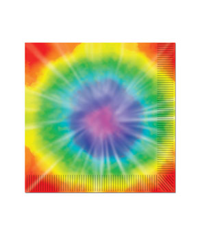 Tie Dyed Luncheon Napkins - 16ct