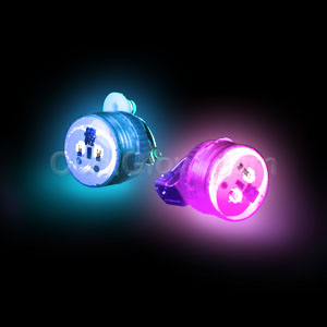 LED Clip On Blinky Light - Blue & Pink