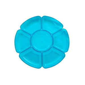 Neon 16 Inch Sectional Serving Tray - Blue