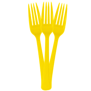 Forks - Lemon Yellow