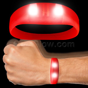 LED Motion Activated Wristband - Red