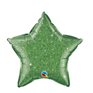 Green Crystalgraphic Star Balloon - 20 inch