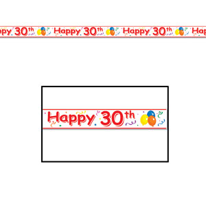 Happy 30th Party Tape - 20ft