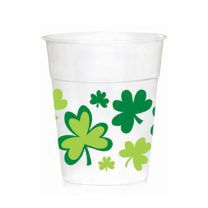 Shamrocks Plastic Cups