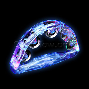 Fun Central G700 LED Light Up Tambourine 8 Inch - Blue