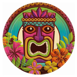 Tropical Tiki 9 Inch Plates- 60ct