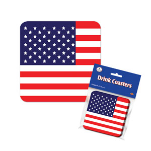 American Flag Coasters - 8ct