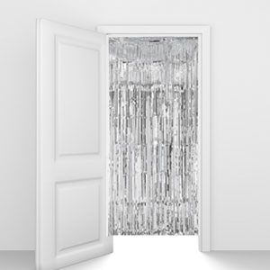 Silver Foil Door Curtain- 8ft
