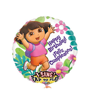 Dora Birthday Singing Balloon- 28 Inch