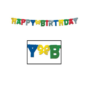Foil Happy Birthday Streamer - 5 foot