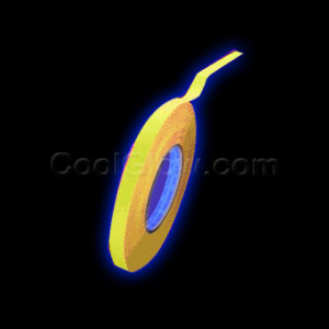0.5 Inch 50 Yard Blacklight Reactive Gaffer Tape - Yellow
