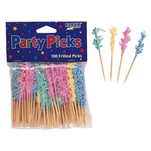 Pastel Frill Party Picks- 100ct