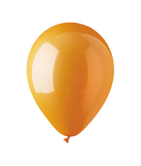 11 Inch Orange Latex Balloons- 15 ct