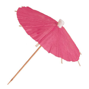 Pink Parasol Picks- 12ct