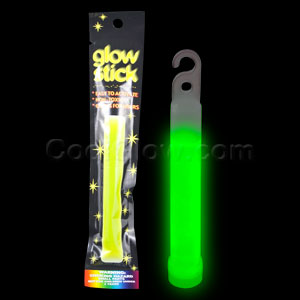 Fun Central I17 4 Inch Retail Packaged Glow in the Dark Stick - Green