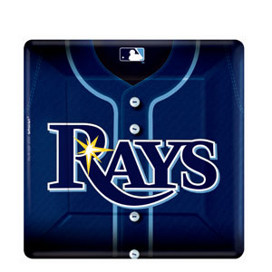 Tampa Bay Rays Square 10 Inch Plates- 18ct