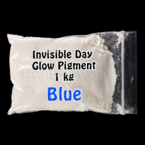 Glominex Invisible Day Glow Pigment 1 kg - Blue