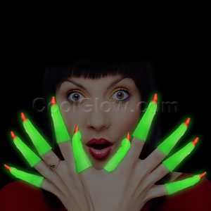 Glow Finger Nails - 10 ct