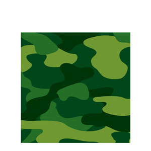 Camo Gear Luncheon Napkins